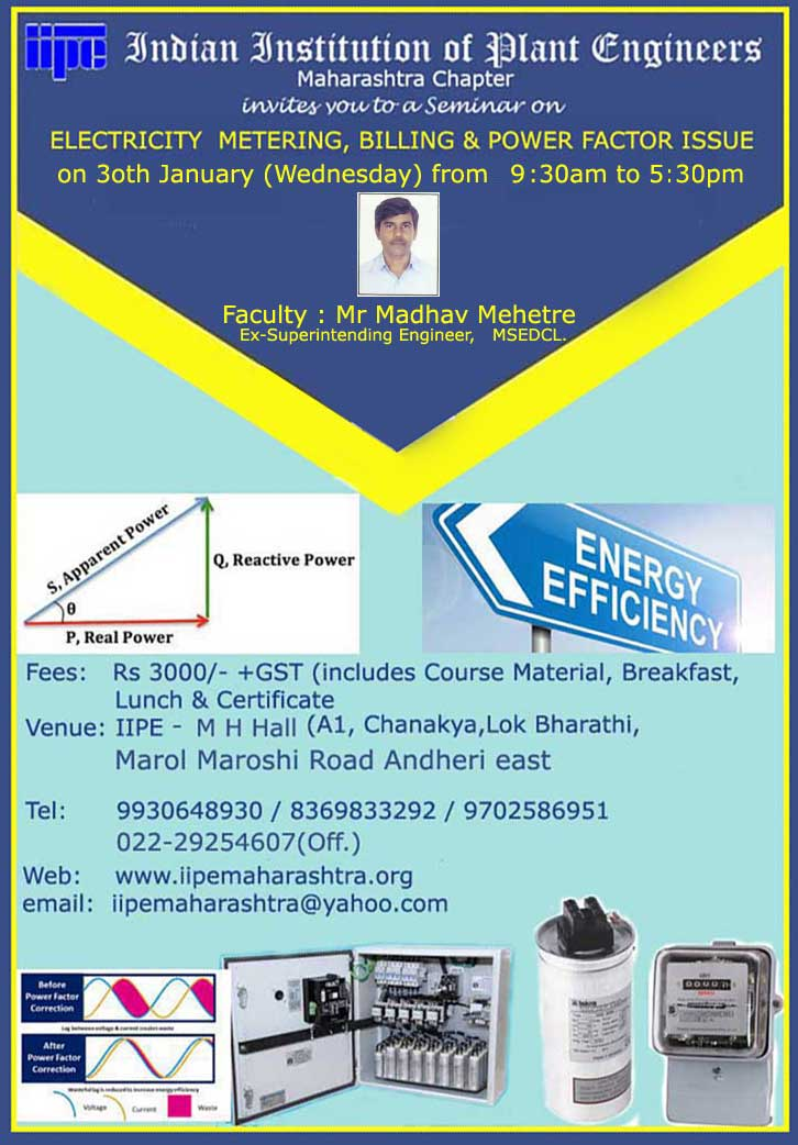 Electricity Metering, Billing & Power Factor